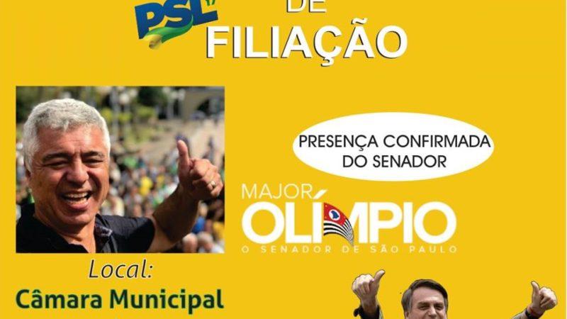 PSL de São Sebastião recebeu o Senador Major Olímpio