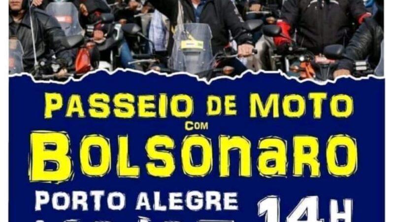 Passeio de moto com o presidente Bolsonaro em Porto Alegre-RS