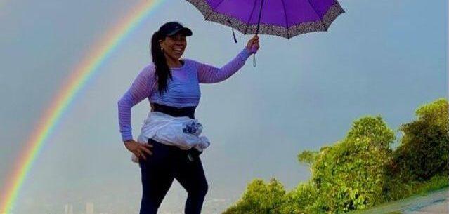 Morro Santo Antonio é estímulo para empresária que emagreceu 50 quilos após 1000 subidas